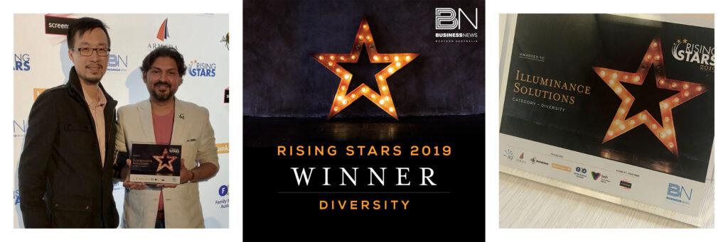 illuminnace Solutions won Rising Stars Awards 2019 for Diversity