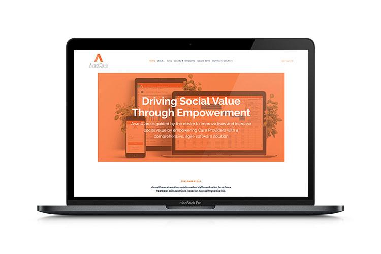 AvantCare website mockup