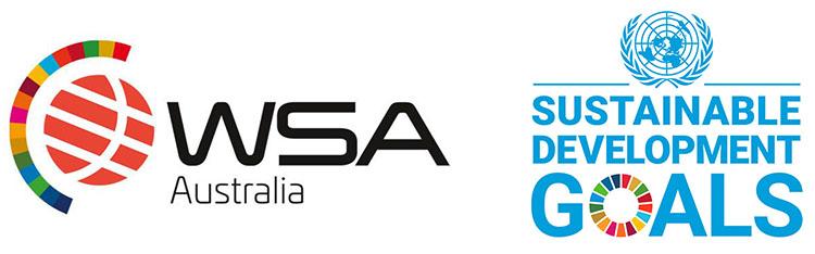UN SDG logo and WSA logo combined