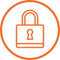 Secure the front door icon