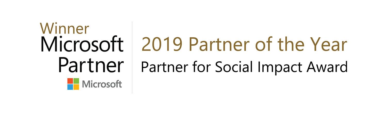 Microsoft Partner of the Year 2019 Partner for Social Impact