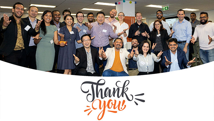 Featured image Illuminance Solutions celebrating 5 years old and new team happily together