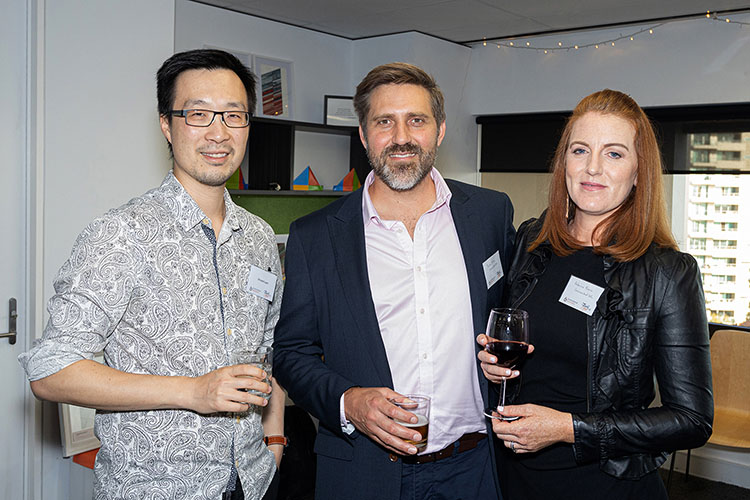 Vincent Lam, Justin Prince from Connected HR and his lovely wife Rebecca
