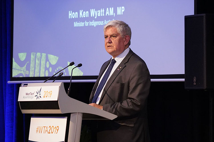 Minister Wyatt at West Tech Assemblage 2019