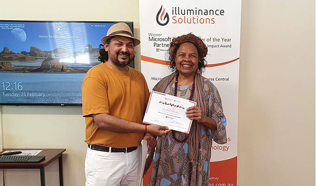 illuminance Broome training handing out certificates