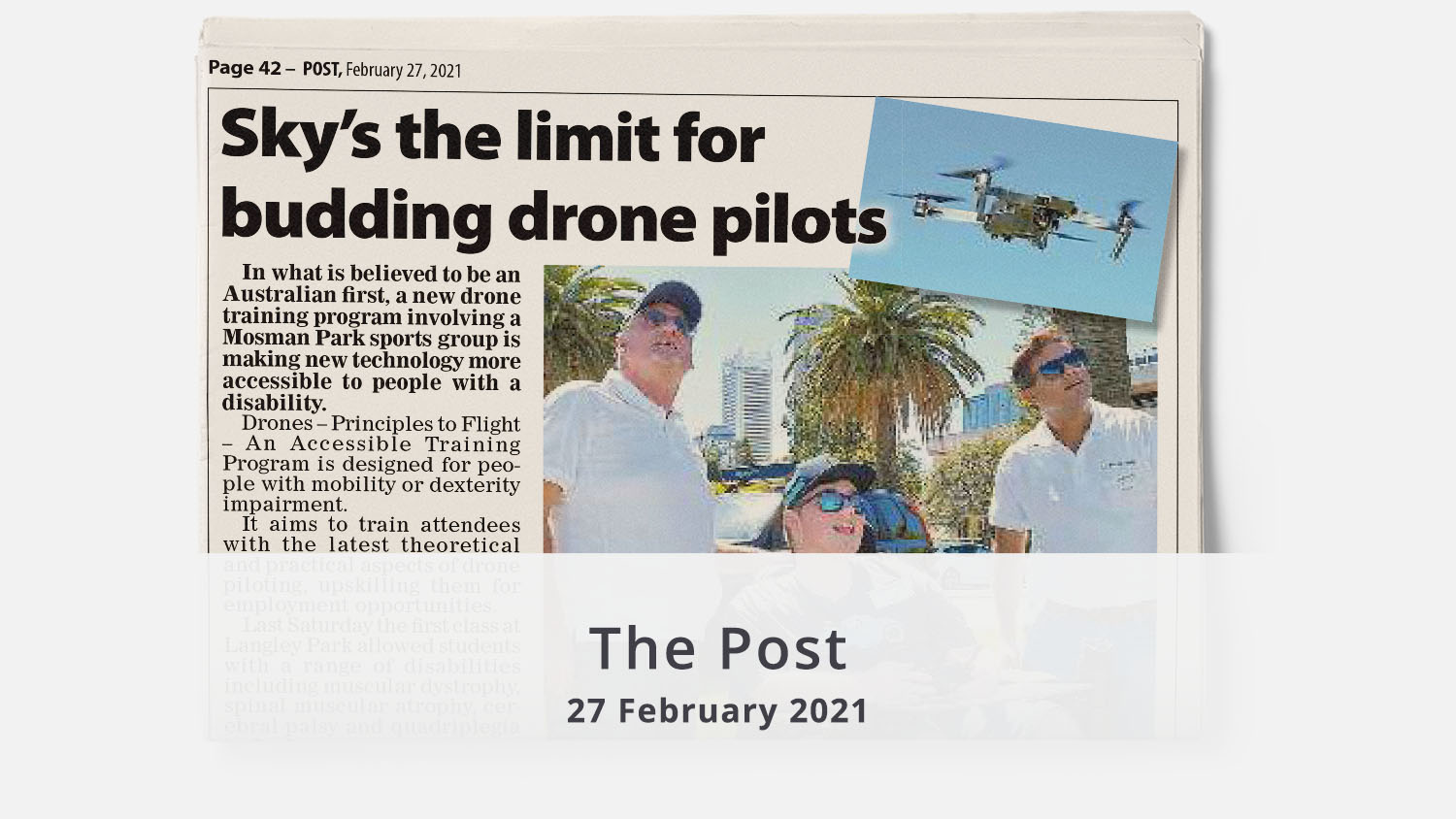 The Post drone training February 2021 illuminance Solutions home