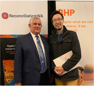 RAP illuminance solutions indigenous events Hon Ken Wyatt and Vincent Lam