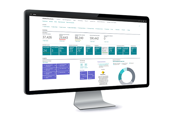 illuminance Solutions Wiise dashboard capture ERP and accounting software