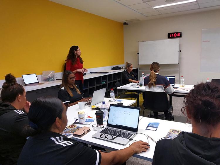 Digital literacy training by Maria at Deadly Sista Girlz