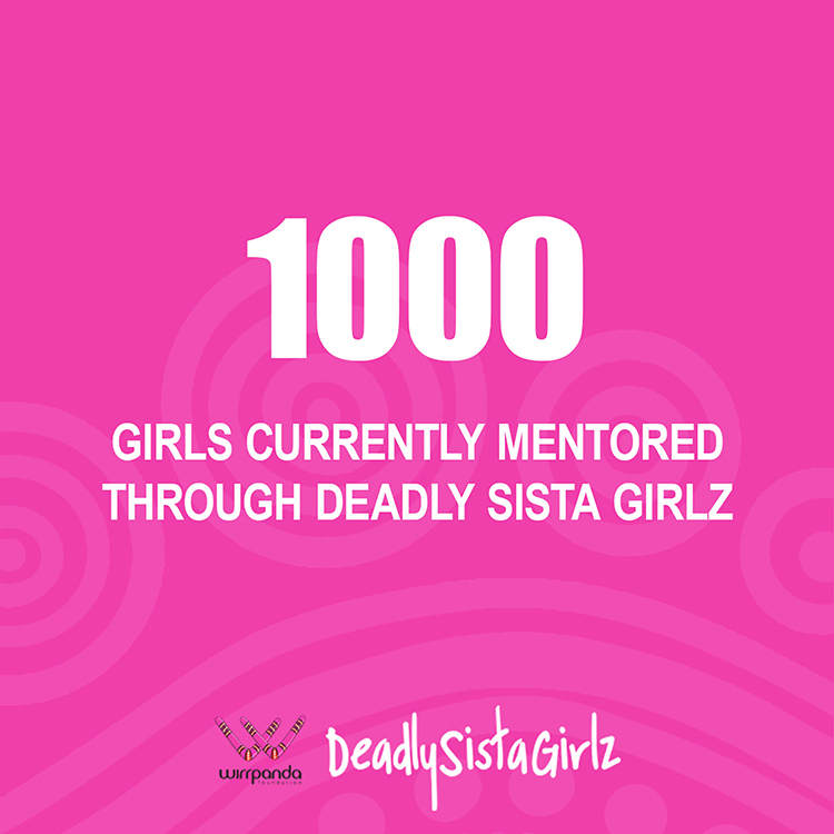 1000 girls are currently mentored through deadly sister girlz